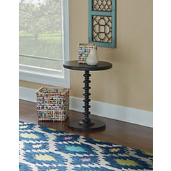 Black Spindle Leg Accent Table