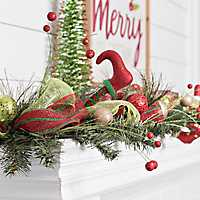 Red and Green Elf Leg Garland