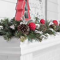 Frosted Pine and Swiss Dot Ornament Garland