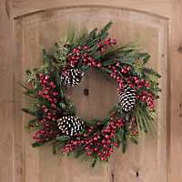 Iced Pine Berry Christmas Wreath