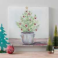 Tiny Christmas Tree Canvas Art Print