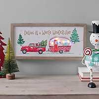 Pre-Lit Christmas In The Country LED Framed Art