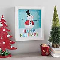 Christmas Snowman Framed Art Print