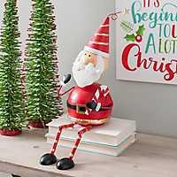 Metal Santa Shelf Sitter with Dangling Legs