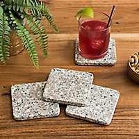 Natural Granite Coasters, Set of 4