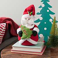 Plush Santa Christmas Tabletop Figurine