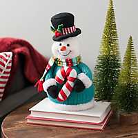 Plush Snowman Christmas Tabletop Figurine