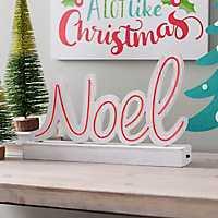 Wooden Neon LED Noel Sign