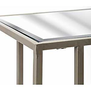 Stainless Steel Beveled Glass C-Tables, Set of 2
