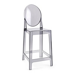 Adriane with Rounded Back Smoke Acrylic Bar Stool