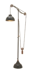 Aluminum Adjustable Pulley Floor Lamp