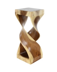 Suar Twisted Wood Large Accent Table