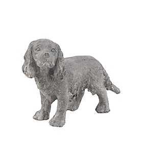 Gray Standing Dog Statue
