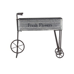 Iron Fresh Flowers Bicycle Planter