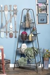 Metal 4-Tier Storage Basket Rack