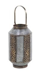 Galvanized Floral Scroll Lantern
