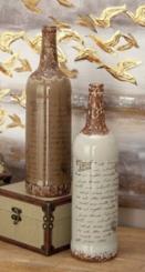 Globe Trotter 2-pc. Decorative Bottle Set, 18 in.
