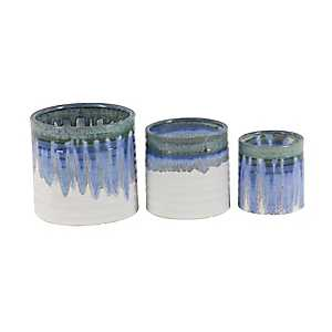Blue and Gray Ombre Planter, Set of 3