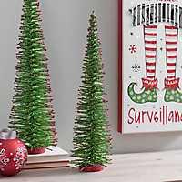 Green Bottlebrush Red Tips Christmas Tree, 20 in.