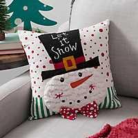 Snowman Character 3D Pillow