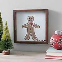 Gingerbread Man Framed Canvas Art Print