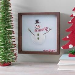 Snowman Framed Canvas Art Print