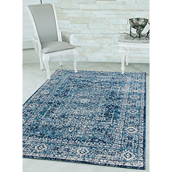 Midnight Blue Ababa Brit Area Rug, 7x11