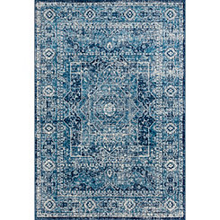 Midnight Blue Ababa Brit Oversized Area Rug, 13x15