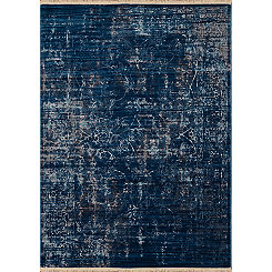 Midnight Blue Monet Cash Runner, 3x8
