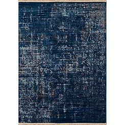 Midnight Blue Monet Cash Area Rug, 5x8