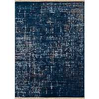 Midnight Blue Monet Cash Oversized Area Rug, 13x15
