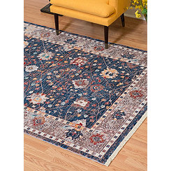 Navy Monet Carlo Area Rug, 5x8