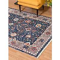 Navy Monet Carlo Oversized Area Rug, 13x15
