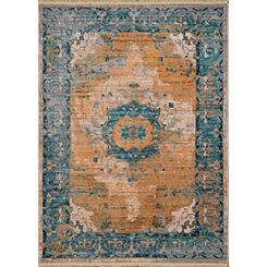 Aqua Monet Grimaldi Area Rug, 5x8
