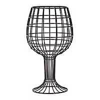 Antique Black Metal Wine Glass Cork Holder