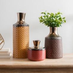 Warm Spice Vases, Set of 3