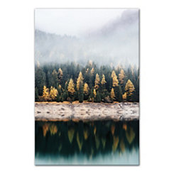 Foggy Lake Photography Canvas Art Print