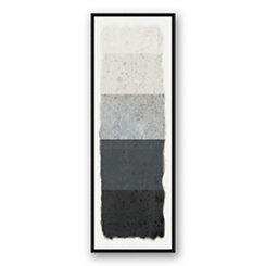 Watercolor Blocks Black Framed Canvas Art Print