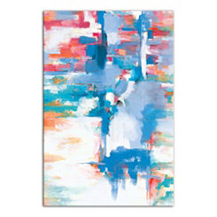 Multi-Colored Brushstrokes Canvas Art Print