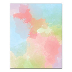 Watercolor Pop Canvas Art Print