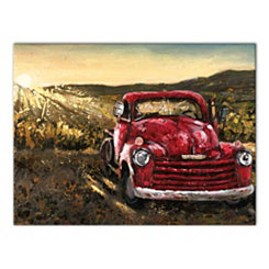 Vintage Sunset Truck Canvas Art Print