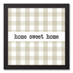 Home Sweet Buffalo Check Framed Canvas Art Print