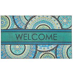 Peacock Medallion Welcome Doormat
