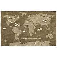 Bigger Love World Nylon Kids Area Rug, 5x8