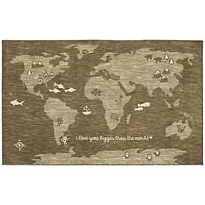 Bigger Love World Nylon Kids Area Rug, 5x8