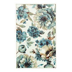 Indigo Floral Area Rug, 8x10