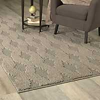 Gray Brindle Line Dance Area Rug, 5x8