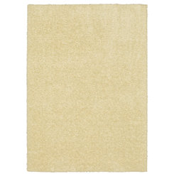Cream Willow Shag Area Rug, 5x7