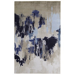 Navy Salome Abstract Area Rug, 5x8
