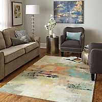 Multicolor Painted Gaze Metro Area Rug, 8x10